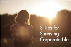 Three tips for surviving corporate life.