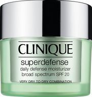 Clinique Moisturisers Superdefense Very Dry to A smart daily defence and so refreshingly lightweight, Clinique Superdefense is a pleasure to wear every day. It starts with comfortable UVA/UVB protection. Next, antioxidants. Then,smart ingredients  http://www.comparestoreprices.co.uk/january-2017-8/clinique-moisturisers-superdefense-very-dry-to.asp