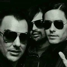 Thirty Seconds To Mars. Shannonn Leto, Tomo Milicevic and Jared Leto (L to R)