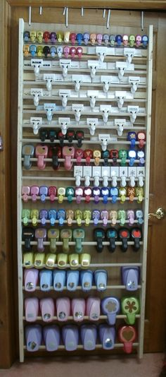 #papercraft #crafting supply #organization. Over-the-door Punch Storage