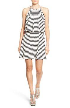 Socialite Stripe Popover Swing Dress