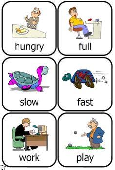 free printable opposites cards for preschool fun time Opposites For Kids, Opposites Preschool, Opposites Worksheet, Preschool Themes, Preschool Printables, Preschool Lessons, Preschool Worksheets, Preschool Learning, Teaching Kids