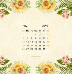may 2019 floral calendar Calendar Wallpaper, Hello May, Floral Printables, 2019 Calendar, Iphone Backgrounds, Maya, Wallpapers, Templates, Crochet