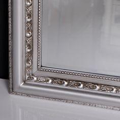 Barockspiegel online kaufen Spiegel Barock Silber-Antik ARGENTO 180x70cm LEBENSwohnART.de