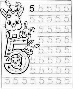 New System-Suitable Numbers Line Study - Preschool Children Akctivitiys Preschool Writing, Numbers Preschool, Preschool Learning Activities, Learning Numbers, Preschool Printables, Preschool Lessons, Kids Learning, Kindergarten Math Worksheets, Math For Kids