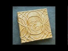 How to make a raised design on a leather cover #book