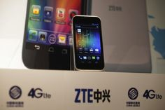 A ZTE Grand X LTE 4G smartphone is displayed at a news conference in Hong Kong August 28,2012. ZTE Corp, the world's fourth-biggest mobile phone vendor, said on Tuesday it aims to more than double smartphone and tablet computer shipments in 2012 as it targets booming global demand. REUTERS/Tyrone Siu (CHINA - Tags: BUSINESS TELECOMS)