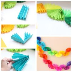 Paper Garland Idea Paper Garland I Flowers DIY Garland paper Kids Crafts, Diy And Crafts, Craft Projects, Arts And Crafts, Decor Crafts, Paper Flowers Diy, Diy Paper, Paper Crafting, Tissue Paper