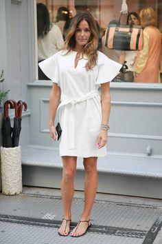 Kelly Bensimon - Chloé boutique Soho Kelly Bensimon, White Outfits, White Style, Playing Dress Up, Style Icons, Beautiful People, White Dress, Glamour, Street Style
