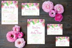 Printable Style WC001 Simple floral by emartisticdesigns on Etsy Custom  Wedding Invitations c6249e1cccb0