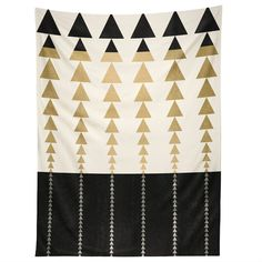 Elisabeth Fredriksson Triangles In Gold Tapestry | DENY Designs Home Accessories