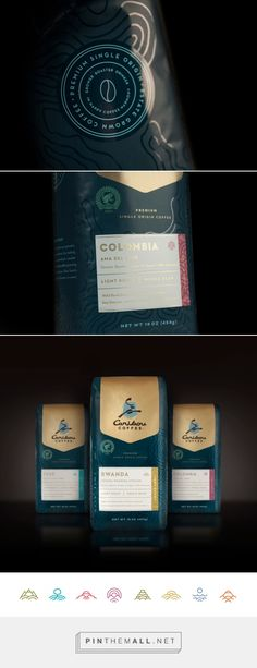 Caribou Single Origin Coffees - Packaging of the World - Creative Package Design Gallery - http://www.packagingoftheworld.com/2016/08/caribou-single-origin-coffees.html