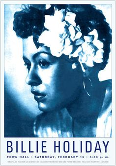 "Billie Holiday Jazz Poster Decorate your Wall Billie Holiday at Town Hall, New York City, 1948 12 Point Gloss Cover Stock – 17"" x 24"" Suitable for Framing By Dennis Loren - Art Print Retail $35.00 Our                                                                                                                                                                                 More"