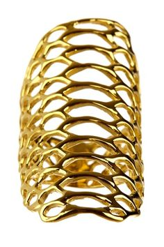 Gold Serpentine Shield Accent Ring by Elizabeth and James via HauteLook