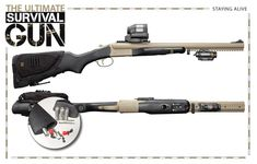 The Survival Gun. Check the features, then take your paranoid, zombie fearing ass straight to your local retailer. Survival Rifle, Survival Weapons, Apocalypse Survival, Tactical Survival, Weapons Guns, Survival Tools, Camping Survival, Guns And Ammo, Survival Prepping