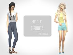 Simple t-shirts at ChiisSims – Chocolatte Sims • Sims 4 Updates