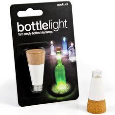 SUCK UK Cork Shaped Rechargeable Bottle Light: Amazon.co.uk: Lighting