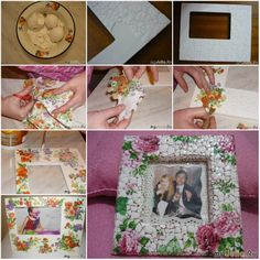 How To Make Eggshell Mosaic Picture Frame of your photo collage step by step DIY tutorial instructions, How to, how to do, diy instructions, crafts, do it yourself, diy website, art project ideas