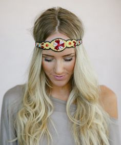 Another great find on #zulily! Yellow Floral Bead Headband #zulilyfinds