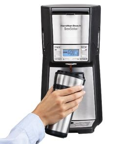 Hamilton Beach 12-Cup Coffee Maker, Programmable Brewstation Dispensing Coffee Machine, Summit Ultra (48465) 12-cup programmable coffeemaker with insulated inner tank and no carafe Dispensing bar for one-handed serving; keep-warm mode; auto shut-off Bold, regular, iced-coffee, or small-batch brewing options; digital display