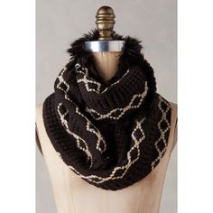 Diamondknit Infinity Scarf ($50) ❤ liked on Polyvore featuring accessories, scarves, black, black infinity scarf, black fringed shawl, loop scarf, fringed shawls and loop scarves