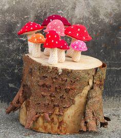 25 Besten Pilze Bilder Auf Pinterest Crochet Mushroom Yarns Und