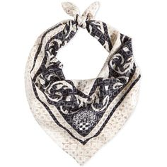 Vince Camuto Bandana Beauty Silk Square Scarf ($38) ❤ liked on Polyvore featuring accessories, scarves, stellar grey, vince camuto scarves, vince camuto, silk handkerchief, gray shawl and grey bandana