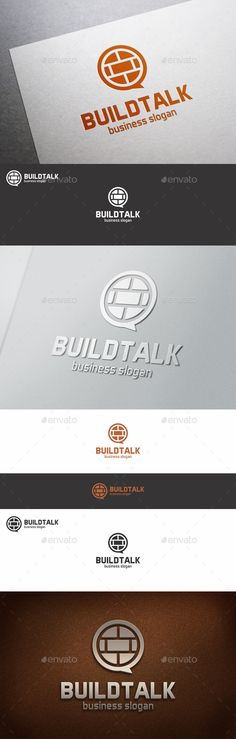 Build Talk Speach Bubble Logo Template – Excellent logo in vector format for real estate company, brick logo, build logo, blogs, build market logo, shops, e-shops, online shop, e-market, tv shop, shopping tv, online shopping, e-store, retail businesses, social network, property chat, forum, construct service, tech support, and related companies.