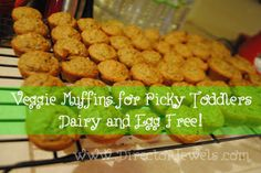 Fruit & Veggie Muffins for Picky Toddlers! My 2-year-old LOVES these. Dairy and Egg Free!