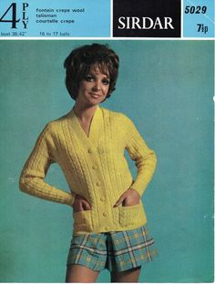 L7127  womens cable cardigan knitting pattern cable jacket v neck 1970s 36-42 inch 4 ply womens knitting pattern pdf instant download  Please refer to the pictures above for information from pattern on sizes, materials used, needle size etc. Click on the white arrow half way up the picture on the right side. Where a discontinued yarn is used, I check the needle size for a modern equivalent and include in the description. This is meant as a guide only. Please check your tension. I have…