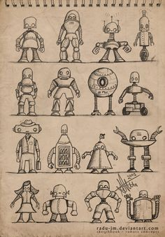 robot drawing -