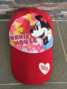 Vintage Disney Mickey Mouse Minie Mouse Cap Disney Mickey Mouse Minie Mouse Baseball Cap Disney Mickey Mouse Minie Mouse Sport Hat Cap by MudeanDean