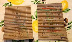 Colouring on Corrugated Cardboard