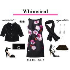 Carlisle: Whimsical dress with jacket or scarf. by carlislecollection on Polyvore featuring polyvore fashion style Carvela Kurt Geiger Gucci Dolce&Gabbana cocktaildress CarlisleCollection fall2015