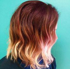 red ombre short hair - Buscar con Google