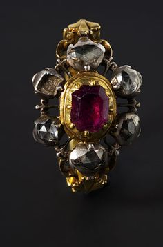 Gold, silver, diamond and ruby Ring, Spain, after 1700