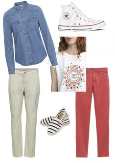 Comment porter le chino ? Converse Rouge, Outfit Sets, My Outfit, Sac Vanessa Bruno, Espadrilles, La Mode Masculine, Sportswear, Polyvore, Outfits