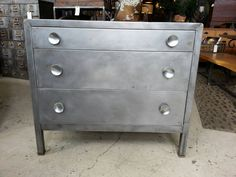 Art Deco Steel Chest Of Drawers by StateStreetSalvage on Etsy