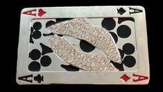 Belt Buckle Gamble Poker 4 Four Aces Rhinestone Lips Cool Belt Buckles, Poker Hands, Rhinestone Belt, Lips, Rhinestones, Size 2, Products, Gadget, Gems