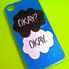 HANDMADE GLITTER The Fault in Our Stars Okay by TheSorcerersPhone, £15.23 (I want this sooo much!)