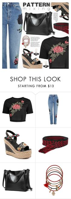 """""""Stay Bold: Pattern Mixing"""" by pokadoll ❤ liked on Polyvore featuring Topshop, Étoile Isabel Marant, Accessorize, Tiffany & Co. and Humble Chic"""