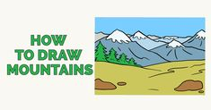 mountains draw drawing mountain easy simple drawings cartoon step snowy tutorial really easydrawingguides learn guides dog paintingvalley steps beginners yoda