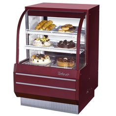 Turbo Air - Curved Glass Non-Refrigerated Dry Bakery Display Case-& Equipment Restaurant Supply Store, Restaurant Equipment, Commercial Cooking Equipment, Bakery Display Case, Opening A Bakery, Professional Kitchen, Curved Glass, Pastry Shop, Pastries