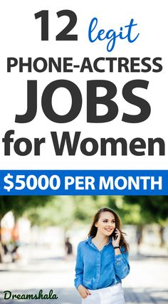 12 Phone Actress Jobs for Women in 2021- Make $5k/Month. #phonejobs #onlinejobs #getpaidtochat #chattingjobs #sidehustles #extramoneyideas #sideincome #textingjobs #dreamshala #jobs #jobsforwomen #extramoney #phoneactressjobs #phoneactressjobsforwomen