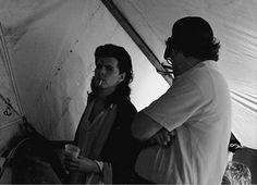 John Taylor, about to take the stage at Live Aid. Photo by Richard Blade.