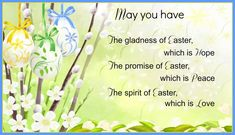 Easter sayings Happy Easter Poems 2018 For Students Kids Children : Jesus Short Easter Poems For Churches Easter Verses, Easter Poems, Happy Easter Quotes, Easter Prayers, Easter Sayings, Holiday Sayings, Easter Card, Christmas Poems, Merry Christmas And Happy New Year