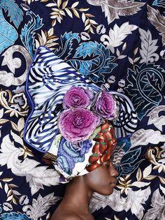 · Inspiring patterns and colors · Turban with flowers · Exotic and beautiful   Tejidos y formas inspiradoras · turbante con flores · Colores y estilo exótico ·