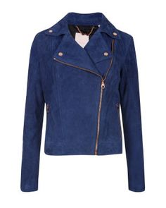 L279. Suede leather biker jacket by Ted Baker, London.