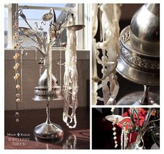 jewelry organization tree made with silverware.