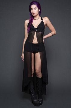 NEOBURNER MESH HARNESS DRESS IN BLACK | Fetish